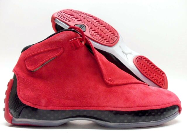 official photos d0bf8 6fe18 Nike Air Jordan 18 Retro Gym Red Black Toro Suede Aa2494 601 Size 8.5