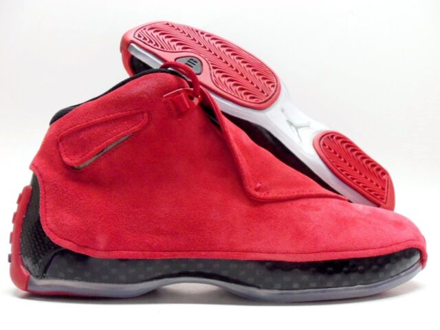 1f2bbc0a7ef Nike Air Jordan 18 Retro Toro Gym Red Suede Black Aa2494 601 Size 9 ...