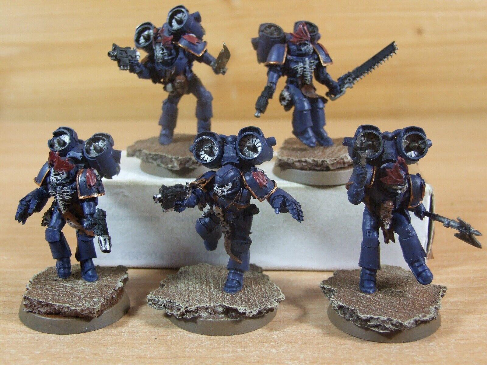 5 Forgeworld Warhammer noche señores Raptors bien pintados (L-038)