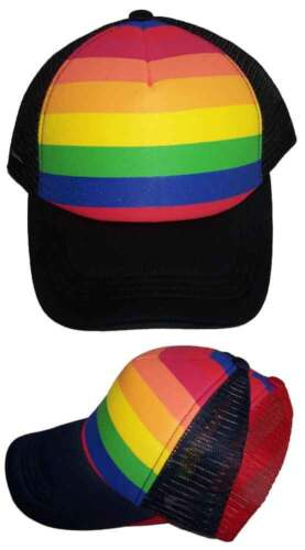 FasCap10  Z Rainbow Colors Gay Pride Truckers Baseball Caps Gifts
