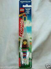 COLGATE & LEGO Zahnputz-Set, Zahnbürste + Lego-Figur Männchen rot/blau NEU