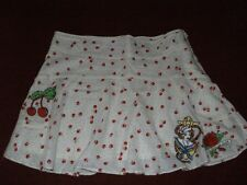 Small Laura Lees 4 TopShop CHERRIES Rockabilly Skirt Polka Dot Mini Skirt BNWT