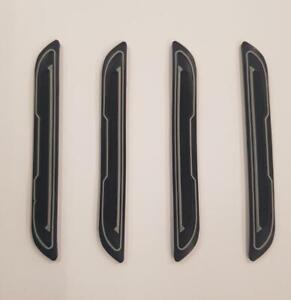 4x-protector-de-arranque-de-la-Puerta-de-Goma-Negro-Inserto-De-Plata-protectores-DG5-se-adapta-a