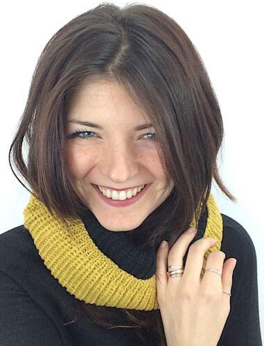 Sciarpa donna  Scarf Scaldacollo Bicolore Taglia unica Moda Inverno NUOVO