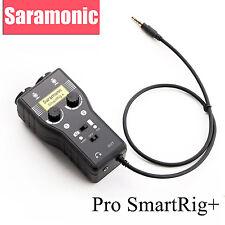 Saramonic XLR/3.5mm Microphone Audio Mixer for Camera Camcorder IOS Smartphone