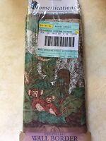 Vtg Domestications African Savannah Wallpaper Border Monkey Elephants