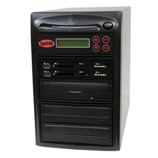 SySTOR 1-2 MultiMedia PLUS - Flash Memory to Disc Backup+DVD Duplicator