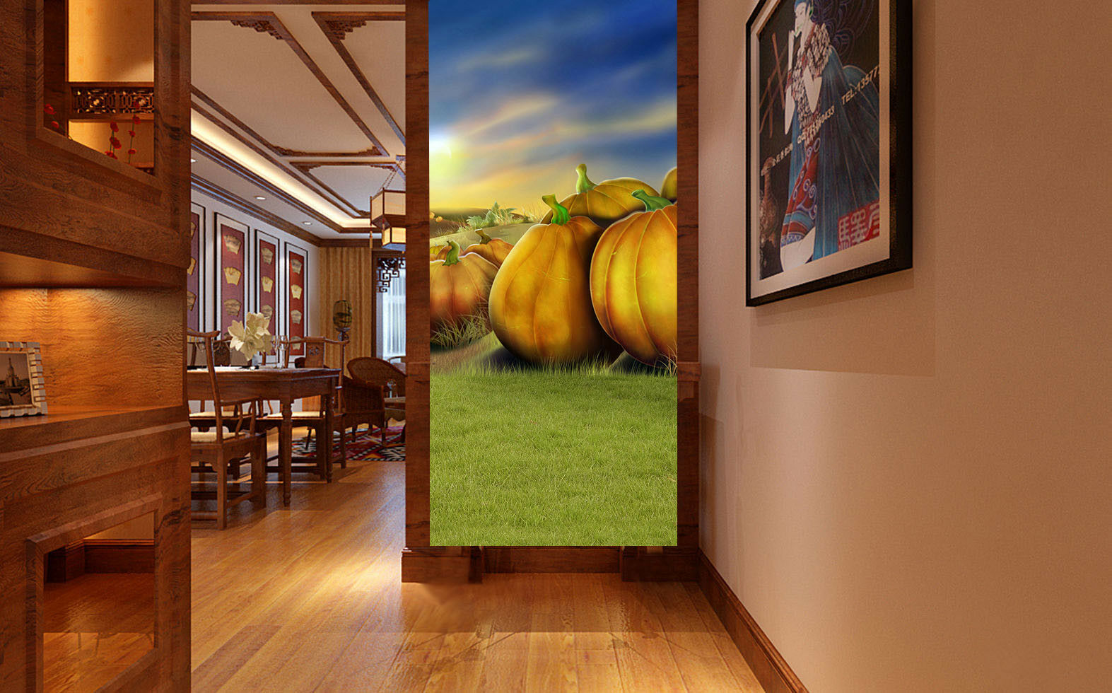 3D Halloween Pumpkin 42 Wall Paper Wall Print Decal Wall Deco Indoor Mural Carly