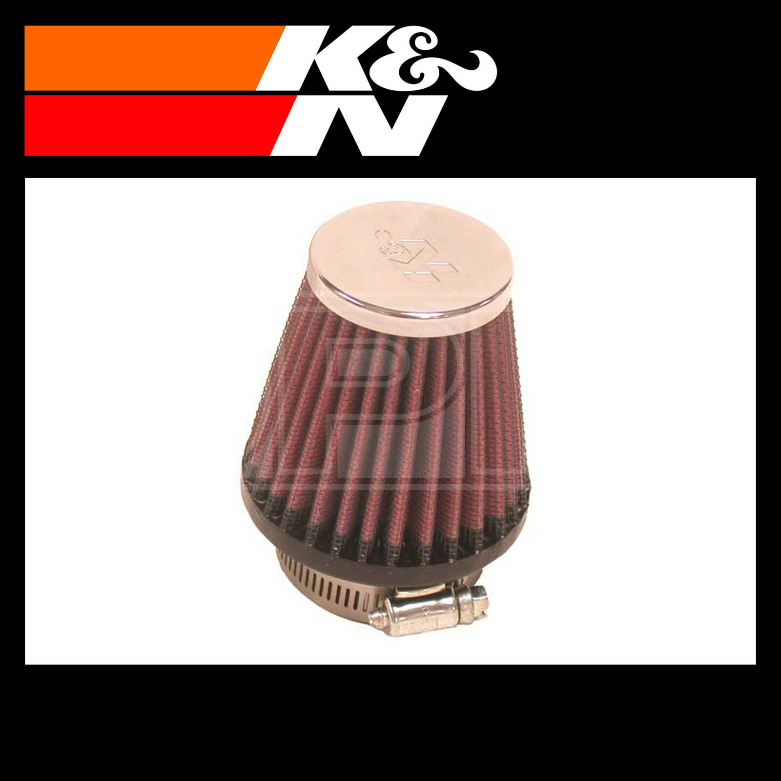 K and N RC-1090 Car and Motorcycle Universal Chrome Filter