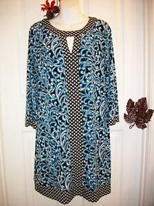 e499d2d15ea Liz Claiborne Size M Stretch Sheath Dress 3 4 Sleeve Black White ...