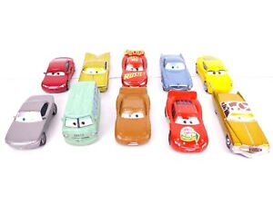 Lote-de-10-Disney-Pixar-Mattel-Cars-Diecast-Metal-Vehicles-Racer-Lighting-Mcqueen