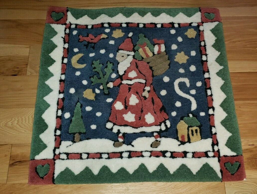 Signatures By Regal Design Studio 26X26 Father Christmas Rug Hand tufted holiday