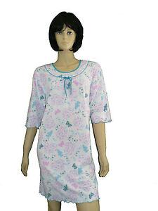 c05b3993eef261 Damen Nachthemd 3/4 Arm kurz Gr.M-XXXL Schlafshirt Baumwolle   eBay