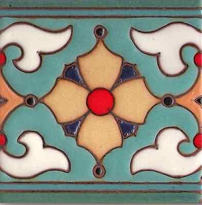"California Spanish Vintage Revival Tile Saracen /'A/'  4/""x4/"""