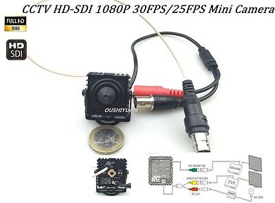 CCTV HD-AHD//TVI//CVI//CVBS 4 IN 1 2.0MP1080P OSD Pinhole Spy Lens 3.7mm Camera