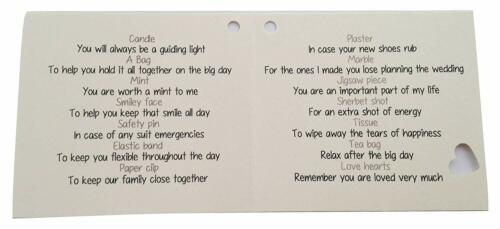 Novelty wedding Thank You gift  keepsake Father of the Groom Survival Kit