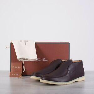 LORO-PIANA-1045-Open-Walk-Ankle-Boots-In-Dark-Burgundy-Elk-Leather
