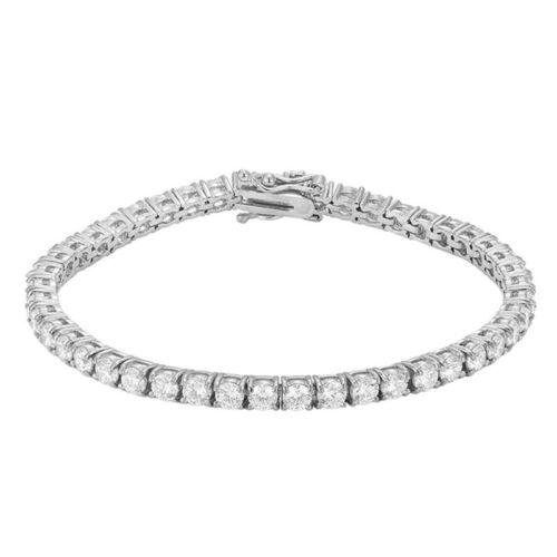 Men Women Bling Tennis Bracelets 14k Gold Plated Hip Hop Single Row Lab Diamond