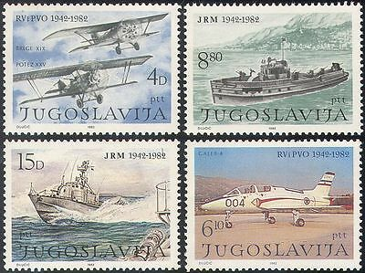 Yugoslavia 1982 Planes/Ships/Air Force/Navy/Military/Transport  4v set (n21710)