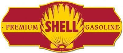Vintage SHELL SEAL GASOLINE Metal Sign Man Cave Garage Body Shop Barn Shed 4