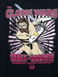 neues-Maedchen-T-Shirt-Gr-128-134-von-starwars-the-clone-wars-mit-Jedi-Obi-Wan