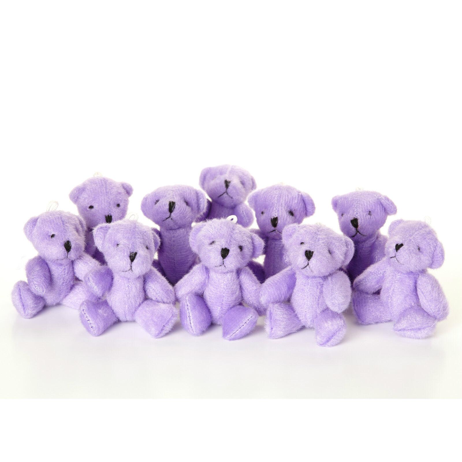 NEW - lila Teddy Bears - - - Small Cute And Cuddly  - Gift Present Birthday Xmas 250bcb