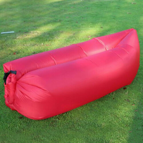 Lazy Inflatable Air Bed Lounger Couch Chair Sofa Bag Hangout Camping Beach  Bean