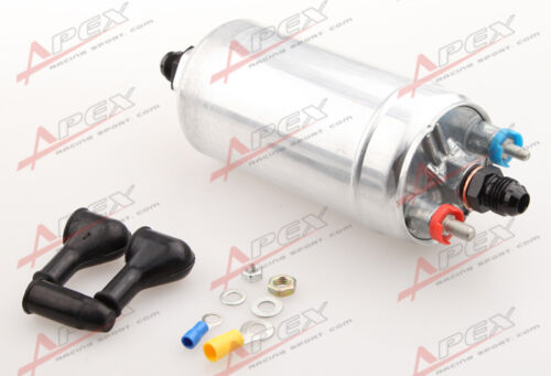 Top Quality External Fuel Pump 044 For Bosch+10AN Inlet 8AN Outlet Adapter Black