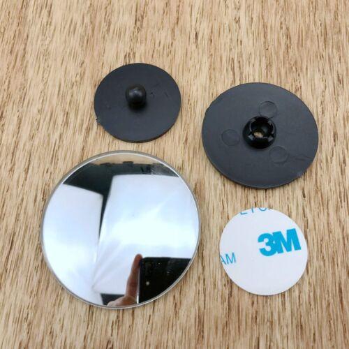 2pcs 360 Degré Rotatoire cerclées universel Grand Angle ronde Blind Spot Miroir