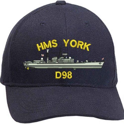 HMS YORK Type 42 Embroidered Baseball Caps /& Beanies