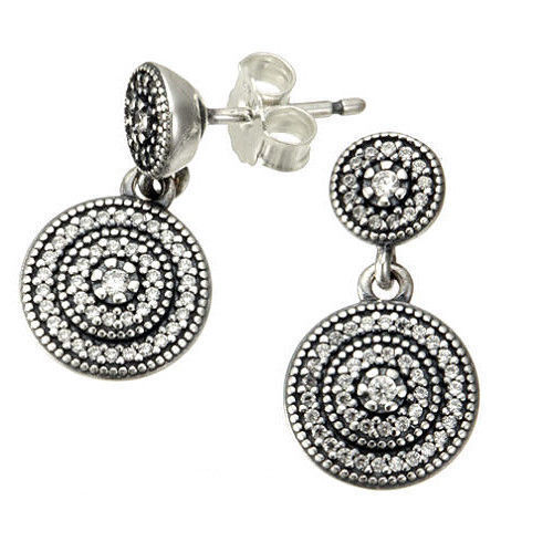 Pandora Drop Earrings: PANDORA Radiant Elegance Drop Earrings 290688cz
