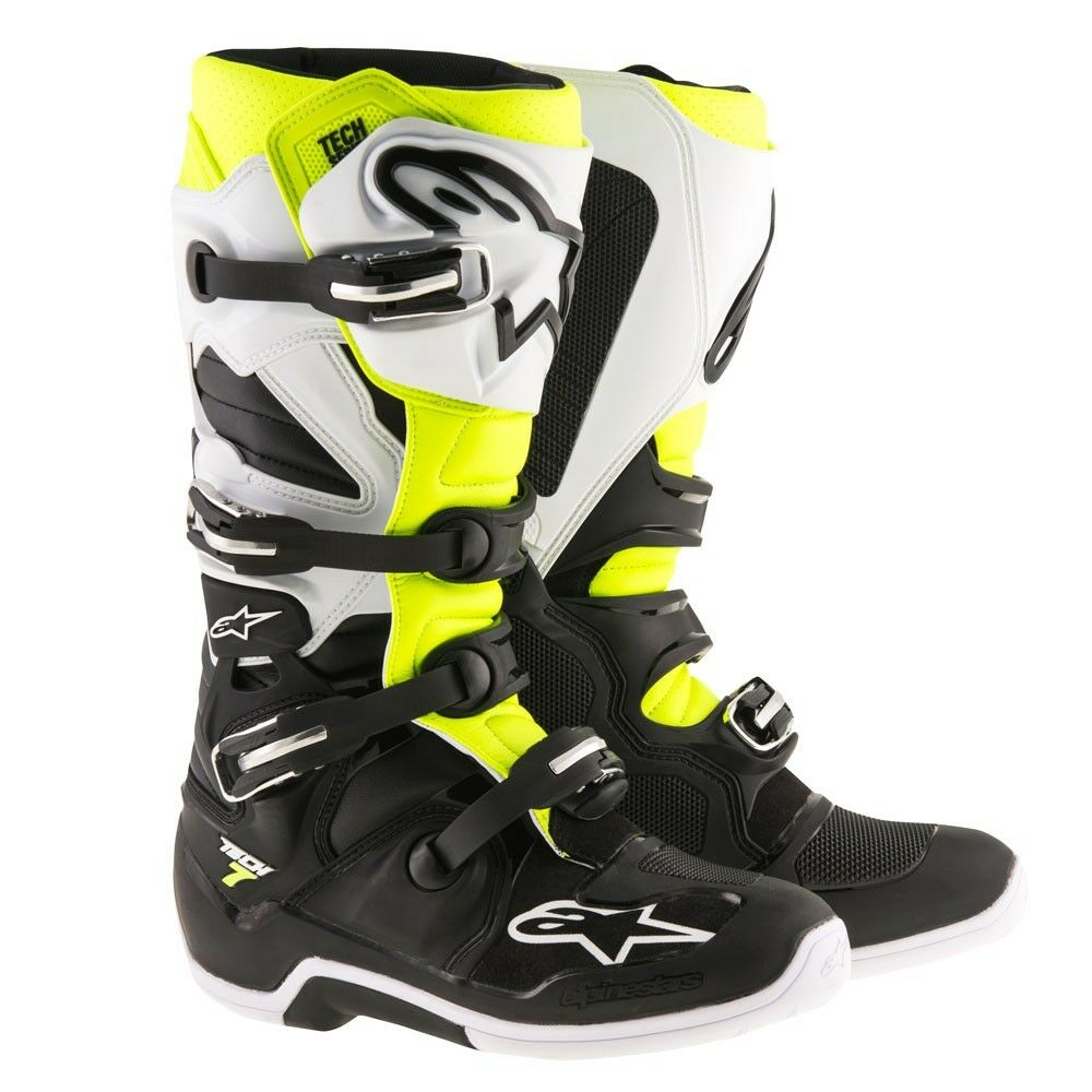 Alpinestars Tech 5 Boots Black//Red//Yellow Size 11