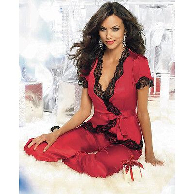 Pj Lace Ladies Set Nightwear Trim Size Cami Cute Plus Lingerie UK 8  10 Shorts M