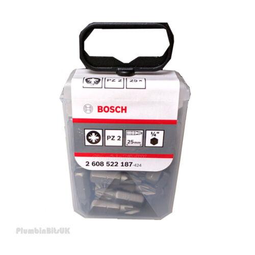 Bosch 2608522187 PZ2 extra dur 25 mm Long Embout Tournevis 25 Pièce