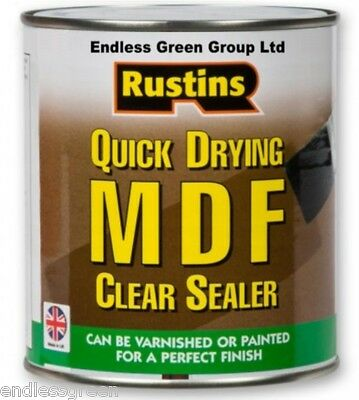 Rustins MDF & Chipboard Clear Sealer  -  Clear, Quick Drying & Toy Safe  - 250ml