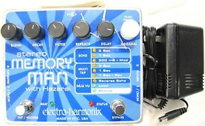 Used Electro-Harmonix EHX Stereo Memory Man with Hazarai Delay Looper Pedal