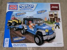 Mega Bloks Jeep Forest Expedition Building Set 97834 Brand New 344 Pieces RARE