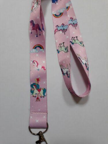 Pink Unicorn Children/'s Gift for keyring//lanyard// ID Badge//Christmas