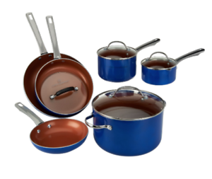Ceramic Cookware Set Blue K46179