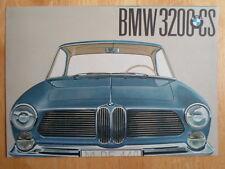 BMW 3200CS V8 Coupe original 1961 UK Market brochure prospekt - 3200 CS
