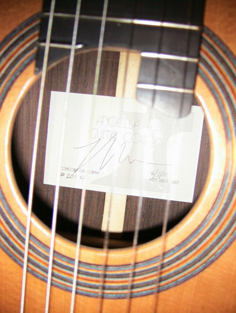 2011 Randy Angella CD/BR Double Top Classical Guitar Brand New Condition w/ HC