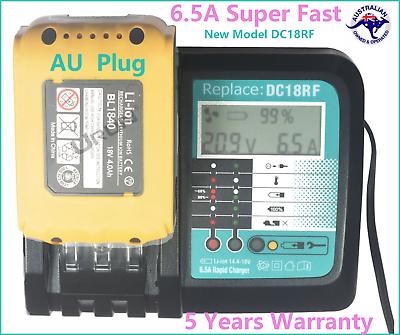 New 6.5A Rapid Charger For MAKITA BL1830 BL1815 BL1840 BL1850 14.4V 18V Battery