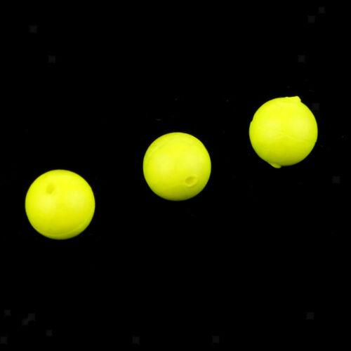 50pcs Yellow Fishing Float Balls EVA Foam Strike Indicators 6mm 7mm 8.3mm