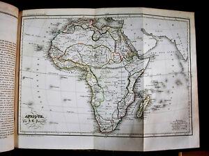 1838 Original Geographie,Plan de AFRIQUE - AFRICA Par J.B.POIRSON - Passepartout