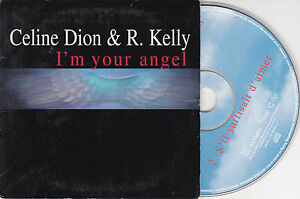 CD-CARDSLEEVE-CELINE-DION-amp-R-KELLY-2T-I-039-M-YOUR-ANGEL-S-039-IL-SUFFISAIT-D-039-AIMER