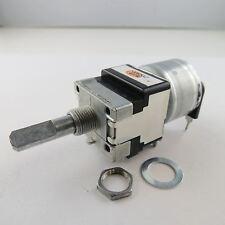 1 x 100k Ohm ALPS Stereo Motorpoti Motor Poti 6mm Achse Potentiometer Log Dreh