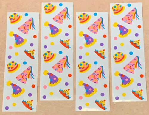Mrs Grossmans Julie Cohen Birthday Party Hats Scrapbook Stickers LOT 4 Sheets