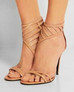 Women-Ankle-Strap-Peep-Toe-High-Stiletto-Heel-Sandals-Party-Prom-Shoes-Plus-Size