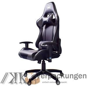 Midori Gaming Details Kissen Schwarz Stuhl Chefsessel Zu Grau Sportsitz Bürostuhl Drehstuhl WYe9HDIE2