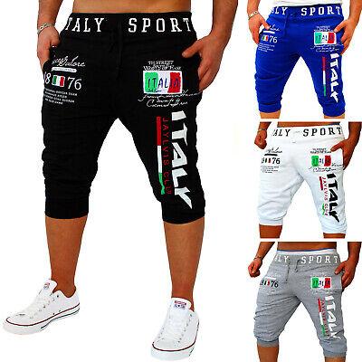 Herren Bermuda Short Capri Hose Kurze 3/4 Sommer Damen Italien Italia Sport Ra62 Einfach Zu Verwenden